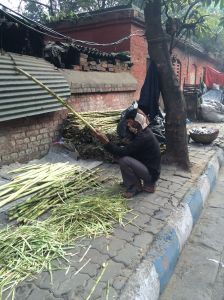 A sugar cane vendor, Calcutta,