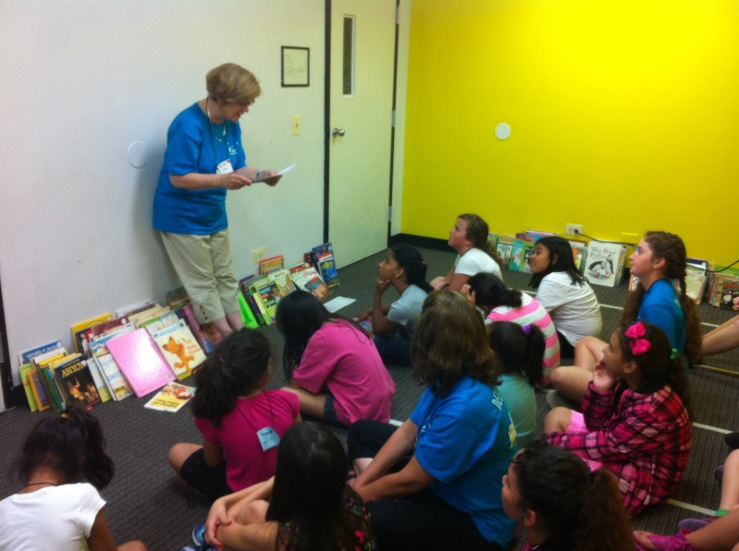 My wife Katie reads to intercity kids in Chicago
