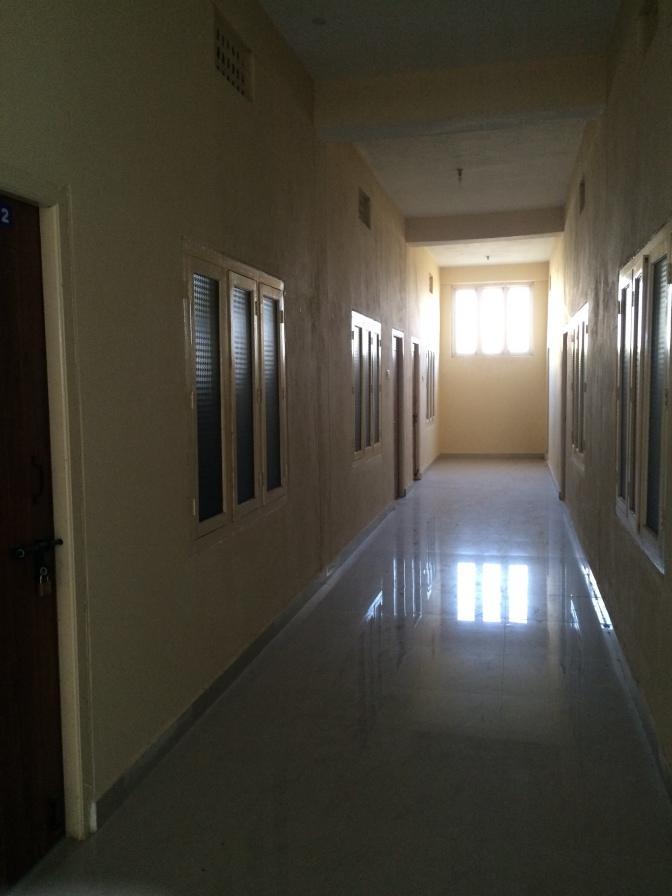 Marble floors in the new girls dorm.